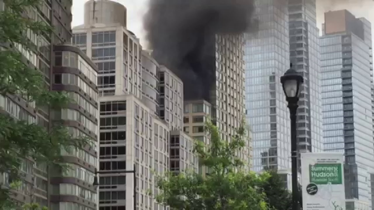 condo building on fire