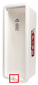 Fire extinguisher security cabinet with lock
