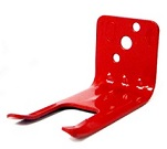 Fire extinguisher fork wall hanger